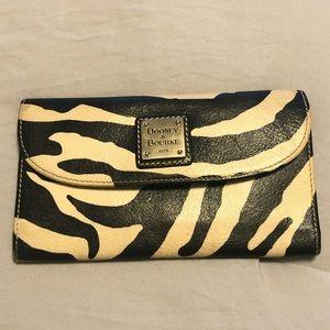 Dooney & Bourke Leather Zebra Print Wallet